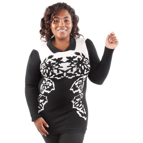 Hadari Women's Plus Size Autumn Nature Sweater Tunic