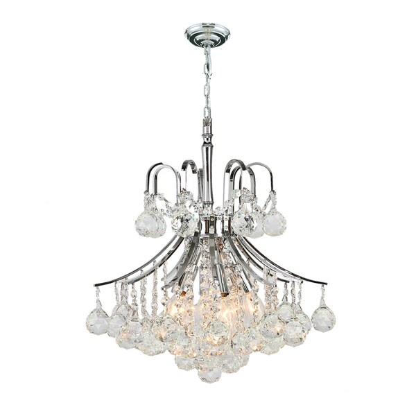 Regal French Empire Crystal Chandelier 6 Light Mini