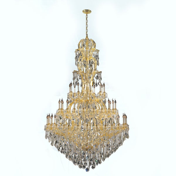 Maria Theresa Grand  Light Gold Finish Three Tier Extra Large Crystal Victorian Chandelier Free