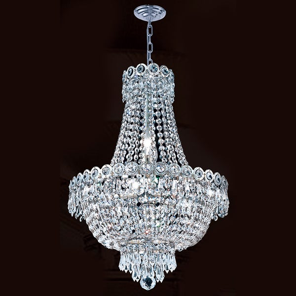 French Empire 8 Light Chrome Finish Crystal Chandelier ...