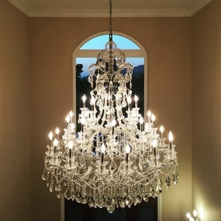 Maria Theresa 48 light Chrome Finish Crystal Victorian Chandelier Four 4 Tier Extra Large