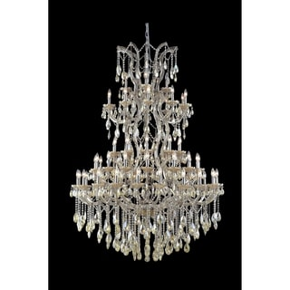 Maria Theresa 61 light Chrome Finish and Golden Teak Crystal Victorian Chandelier Four 4 Tier Extra Large