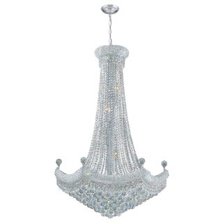 French Empire 18 light Chrome Finish Crystal Regal Chandelier Large