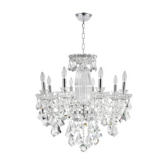 Old World Elegance 8 light Chrome Finish with Double-Cut Crystal Chandelier Large
