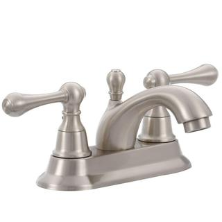 Pegasus 1000 Series 4-inch Centerset 2-Handle Bathroom Faucet in Brushed Nickel with Pop-up Drain