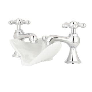 Series 6100 8-inch Widespread 2-Handle Low-Arc Bathroom Faucet in Chrome with Pop-up Drain