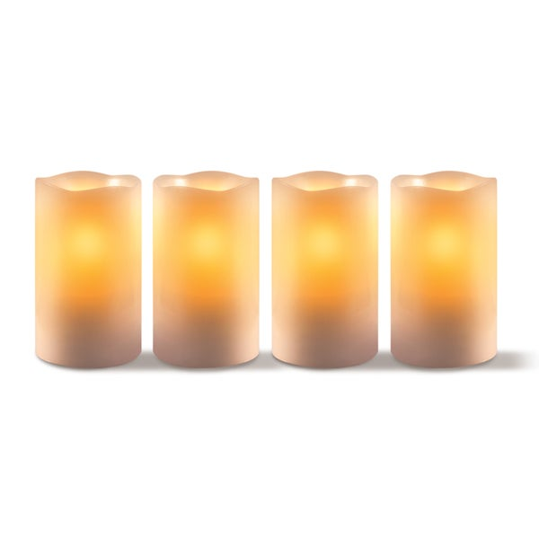 Apothecary & Company 4-Piece LED Candle Set with Daily Timer