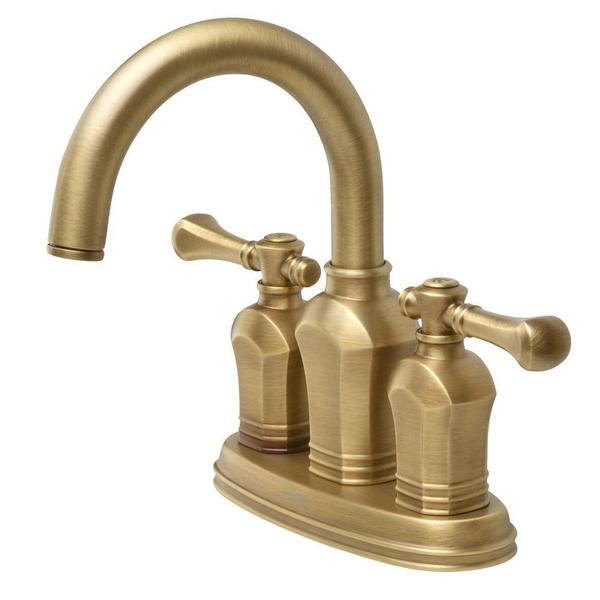 Verdanza 4-inch 2-Handle Bathroom Faucet in Antique Brass