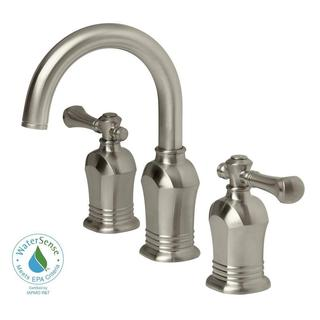 Verdanza Series 8-inch Widespread 2-Handle High Arc Bathroom Faucet in Brushed Nickel