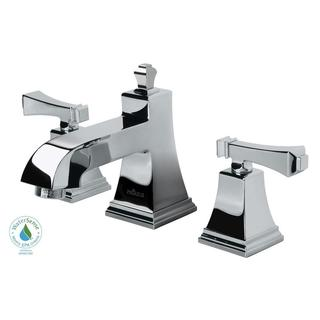Exhibit 8-inch Widespread 2-Handle Low-Arc Bathroom Faucet in Chrome