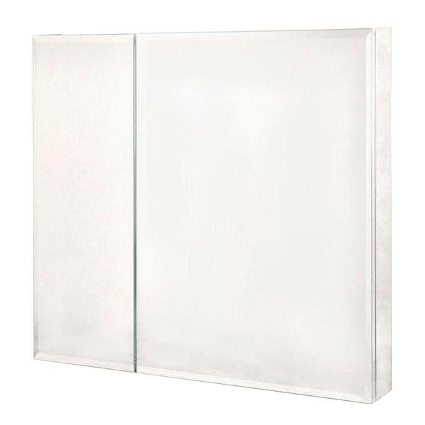 Pegasus 30 Inch X 30 Inch Recessed Or Surface Mount Medicine Cabinet In Bi View Beveled Mirror