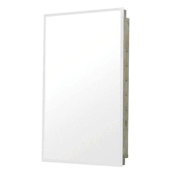 16-inch x 20-inch Recessed Medicine Cabinet in Stainless Steel