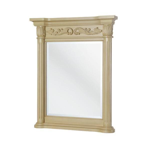 Estates 34 inch x 28 inch Wall Mirror in Antique White