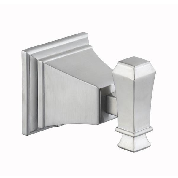 Exhibit Single Robe Hook in Brushed Nickel