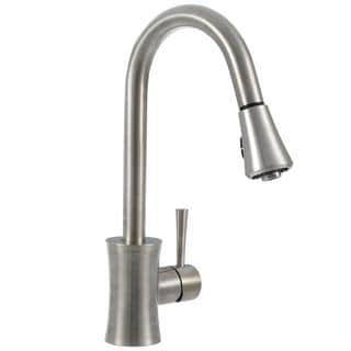 Luca Single-Handle Pull-Down Sprayer Kitchen Faucet in Brushed Nickel