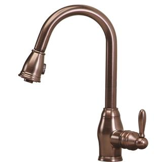 Newbury Single-Handle Pull-Down Sprayer Kitchen Faucet in Oil Rubbed Bronze