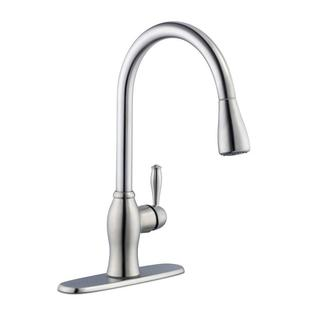 1050 Series Single-Handle Pull-Down Sprayer Kitchen Faucet in Stainless Steel