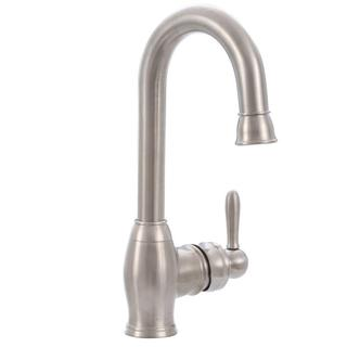 Newbury Single-Handle Bar Faucet in Brushed Nickel
