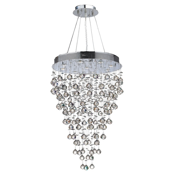 Light Chrome Crystal Chandelier