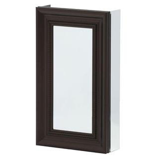 15-inch x 26-inch Recessed or Surface Mount Mirrored Medicine Cabinet in Oil Rubbed Bronze