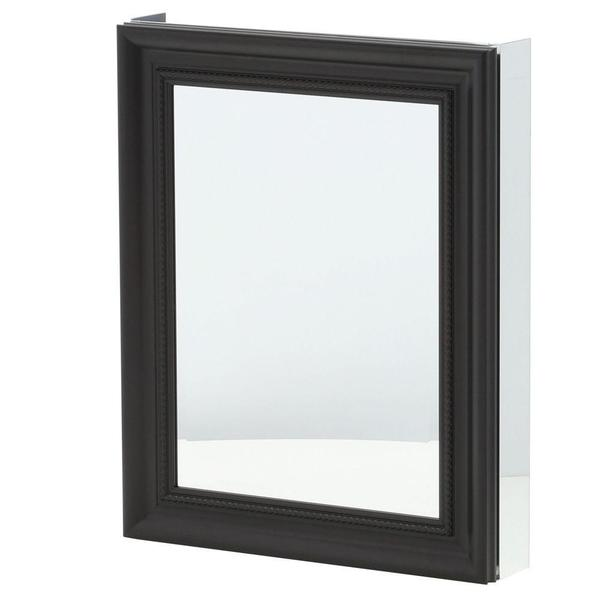 24 inch x 30 inch recessed or surface mount mirrored medicine cabinet