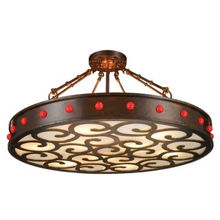 "Traditional 9 Light Antique Bronze Finish with Faux Alabaster Diffuser 36"" Round Chandelier Large"