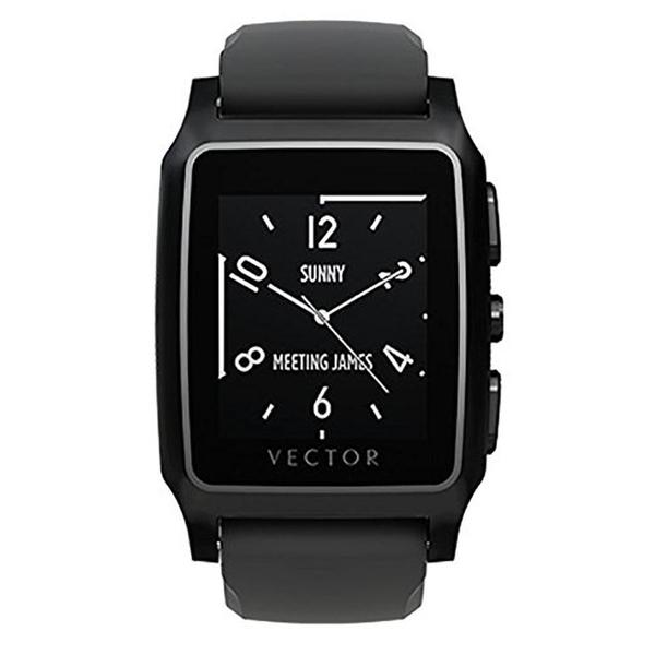 Vector Meridian Flat Smart Watch - Black/Black Silicone
