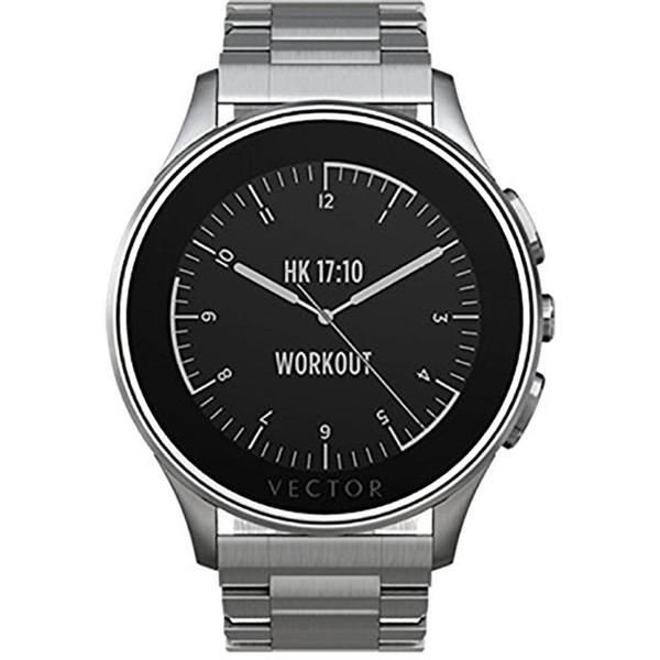 Vector Luna Brushed Smart Watch - Steel/Steel Bracelet