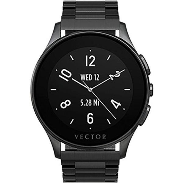 Vector Luna Brushed Smart Watch - Black/Black Bracelet