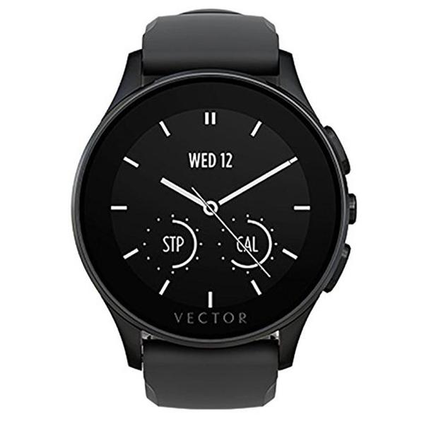 Vector Luna Flat Smart Watch - Black/Black Silicone