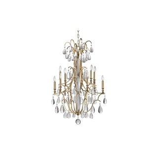 Hudson Valley Crawford 12 Light Aged Brass Chandelier