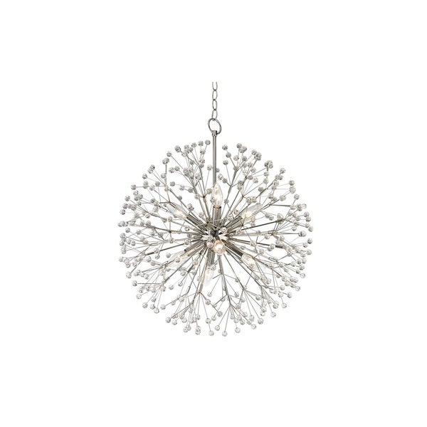 Hudson Valley Dunkirk 8 Light Nickel Chandelier