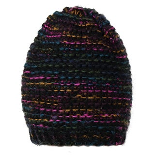 Dasein Thick Knitted Dip-Dyed Beanie Hat