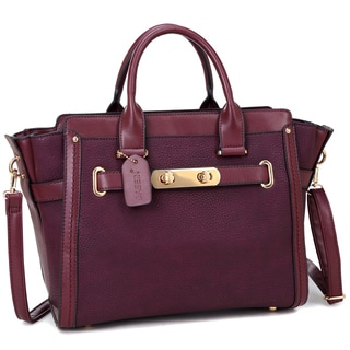 Dasein Faux Leather Belted Medium Tote Bag