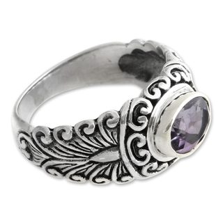 Sterling Silver 'Sumatra Splendor' Amethyst Ring (Indonesia)