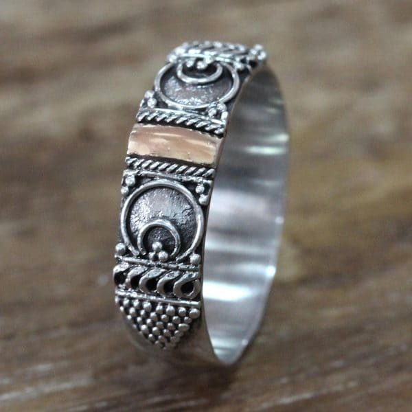 Handmade Gold Overlay 'Love Vow' Ring (Indonesia) 16657329
