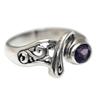 Handcrafted Sterling Silver 'Jimbaran' Amethyst Ring (Indonesia)