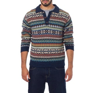 Men's Alpaca 'Pisac Casual' Polo Sweater (Peru)