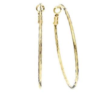 Isla Simone - Twisted Diamond Cut Hoop Earrings
