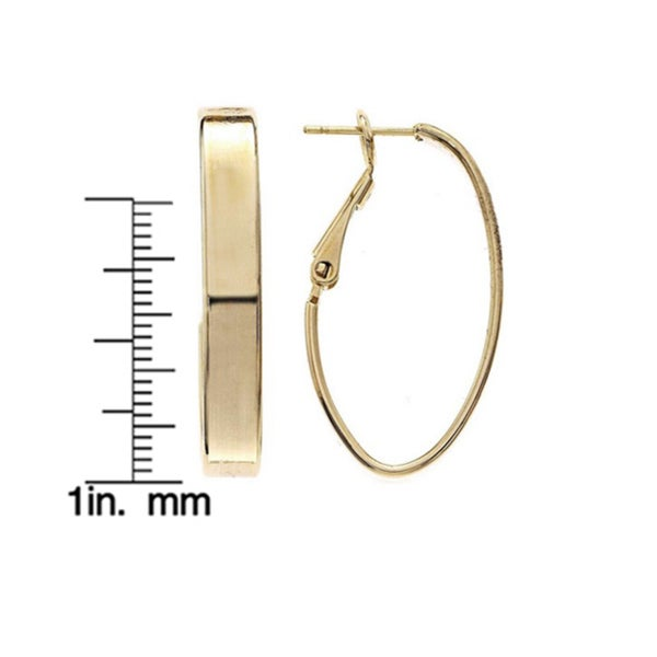 Isla Simone - 5mm Large Rectangle Tube Oval Hoop Earring