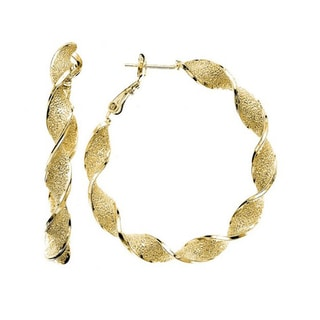 Isla Simone - Gold Plated Hoop Earring