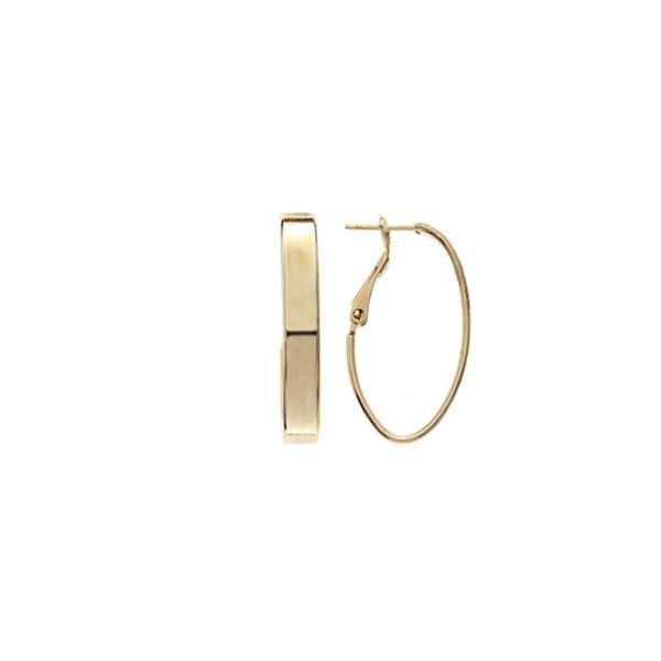 Isla Simone - 5mm Small Rectangle Tube Oval Hoop Earring