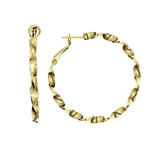 Isla Simone - 14KT Gold Plated Twisted Hoop Earring