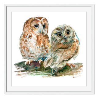 Gallery Direct Watercolor Owls Print on Paper Framed Print