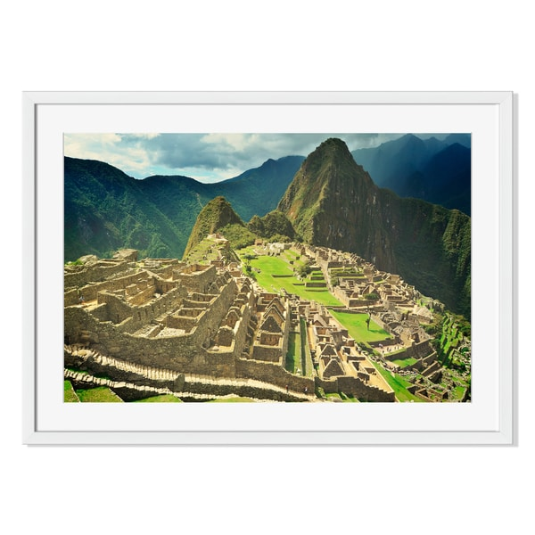 Machu Picchu lost city of Inkas Print on Paper Framed Print