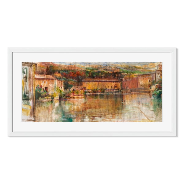 Apricot Bay Print by Sylvia Angeli on Paper Framed Print