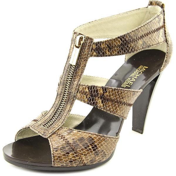 Michael Michael Kors Women's 'Berkley T Strap' Leather Sandals