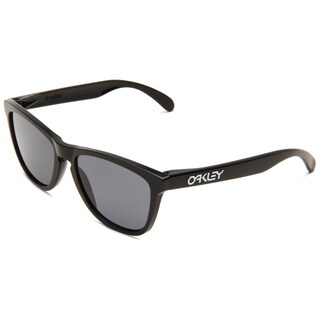 Oakley Frogskins Sunglasses Polished (Black Frame/Grey Lens)