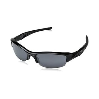 Oakley Men's Flak Jacket Iridium Sunglasses (Jet Black Frame/Black Lens)