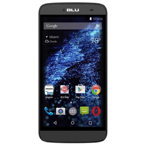 BLU Dash X Plus D950U 8GB Unlocked GSM Dual-SIM Quad-Core Android Cell Phone - Black